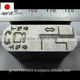 High quality metal marking stamp or punch for die cutting press machine with durable made in Japan
