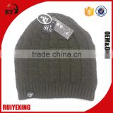 100% Acrylic Knitted Beanie Hat for men