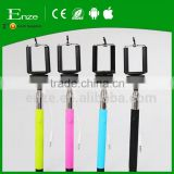 wholesale monopod cable stainless steel selfie stick for smart phone camera