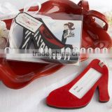 Novelty design red high-heel luggage tag for wedding giveaways and party lottery draw prize