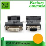 SLT High Quality VGA Male to DVI 24+5 Female Cable Adapter Black
