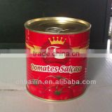 tomato paste 28-30% concentration in 800g containers with easy-open
