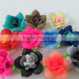 Look!!Fashion Handmade new design summer Colorful Polymer Clay Flower Beads for Chunky little girl Necklace Jewelry