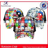 Cartoon design printing lovely kids trucker hat \all size will be ok \as custom requested