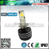 Universal CREE Xlamp CXA1512 72w 3900 lumen super bright led headlight bulb h11
