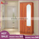 Commercial furniture customized space saving wall bedroom 2 door storage hotel wardrobe