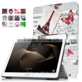 Retro and vintage patterns tri-fold smart cover for Huawei MediaPad M2 10.0 leather case