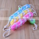 J194 2015 NEW COLORFUL bath sponge long handle wholesale