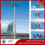 Q235 steel outdoor 30m high mast lighting pole with china factory price professional design for airport, square, stadium                                                                         Quality Choice