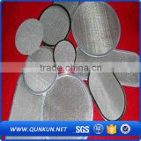 stainless steel wire mesh disc / ss wire mesh for filter / high performance ss wire cloth