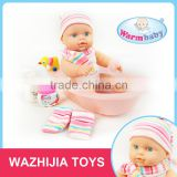 Ali express china 12 inch vinyl baby alive doll bath toys and games for kids