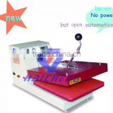 Manual heat press machine small format heat transfer machine pneumatic heat transfer press