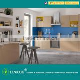 Linkok Furniture 2016 Italian modern kitchen furniture UV acrylic laminate commercial MDF kitchen cabinets