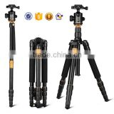 Q666 158CM 15KG Load Portable Aluminum Digital DSLR Camera Tripod Monopod with Panorama Ball Head special beauty twist lock