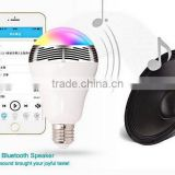 2014 beautiful outdoor lighting led lights E27 led bulb bluetooth speaker giving a good price