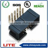 2.54mm 20 pin right angle idc male connector box header