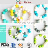 100% Food Grade Beads/Australia Standard Teething Basketball Silicone Bracelet