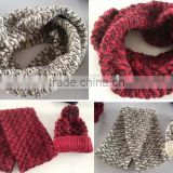 Women's Fat Acrylic Chunky Fashion Knitted Winter Thicker Neck Warmer Round Infinity Scarf