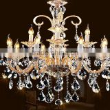 china supplier crystal modern candle lamp luxury chandelier luster 12 glass arms chandelier