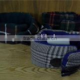 Checked Neck gaiter with Horn Button
