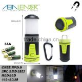 Portable Camping Lantern Hiking Tent 8 Brightness Level Powered By 3*AA Battery Magnetic Mini Flexible Camping Lamp