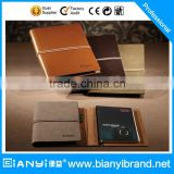 2016 Promotional gift soft pu cover leather business notebook with elastic band journal agenda planner diary