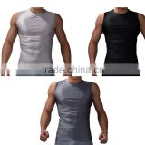 2016 Mens Boy Body Compression Base Layer Sleeveless Sport Shirt Thermal Under Top Tees Tank Tops Fitness Tights Vest