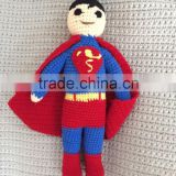 Handmade superman dolls for baby.Crochet best gift for the birthday.