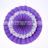 Purple Paper Fans Backdrop Hanging Paper Fans Decoration Vintage Collection HANGING FANS Wedding Decoration