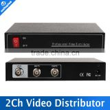 1 Points 2 Output,Support 1080P/720P AHD,HDCVI,HDTVI Camera BNC Input,Out Distance Max 300-600M 2CH BNC Video Splitter