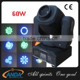 Competitive price dmx 60w mini led moving head spot light / 75 watt moving head in Wholesale