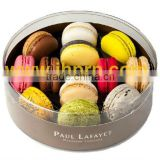 round plastic macarons packaging box