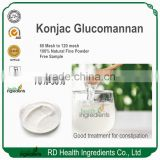 RD Health Ingredients GMP factory professional manufacturer 100% Natural Konjac root konjac glucomannan powder