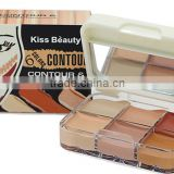 KISS BEAUTY Makeup 6 Color Contour & Correct Cream Concealer Palette Base Maquiagem Mineral Makeup Contour Palette