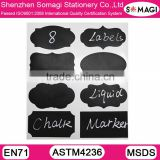 Premium PVC Vinyl Chalkboard Labels + White Chalk Marker Pen,Adhesive Chalkboard Pantry Sticker Label for House Organization