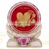 crystal paper weight inside heart design hot selling in cheap price
