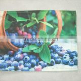 30x45cm customized valentine's day quilted fruit photo printing Placemat or table mat