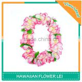 Custom Silk Artificial Necklace Pink Hawaii Flower Lei