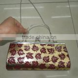 clear acrylic clutch bag, metal clutch bag