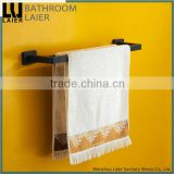 Customized Hotel Decorative Zinc Alloy Soft Feeling Bathroom Accessories Wall Mounted Double Towel Bar