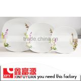 High brightness home porcelain chinese style dinnerware set