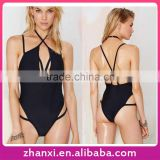 Wholesale black women one piece bathing suit sexy girl's swimsuit teen beachwear swimwear