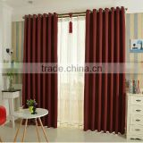 100% polyester flame retardant and waterproof plain blackout fabric bedroom and shower curtain