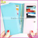 2015 New Korean Fashion Cheap Women Purse Long Thin Wallet Pu Card Holder