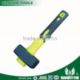 CW085DG 45#carbon steel forged German type stone hammer with double color plastic-coating handle