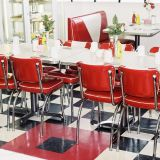 Customized Quality Restaurant Furniture Booth Table Chair Set