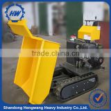 Construction Equipment Mini Crawler Loader Type Gasoline Powered Dumper