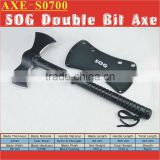 "(S0700) 15"" Ultimate Tactical Double Bit Double Edge Ax Chopper"
