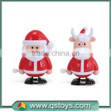 Plastic wind up walking Father Christmas toys for kids