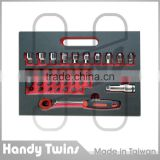 44 Pieces Go Thru Socket Ratcheting Wrench Set